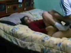teen GF With Stretched Legs For Piston