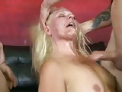 hot pornstar is facially used deepthroat facial