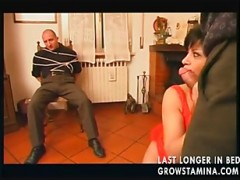 Italian housewife pounded by two