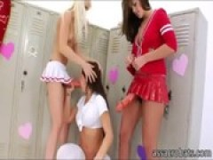 sleazy lesbian cheerleaders destroys their .