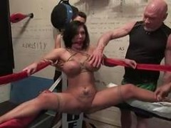 Extreme fantasy of woman bound and double