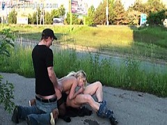 Shocking PUBLIC street group SEX gangbang orgy Part four
