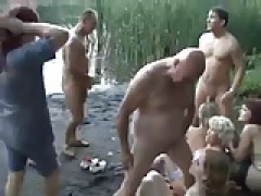 German group sex in the wood
