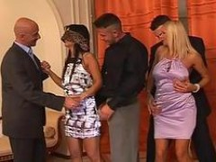 pretty Milfs Get Groped At Swingers Party
