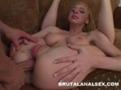 Frenchie has her tight booty spanked and fucked hard