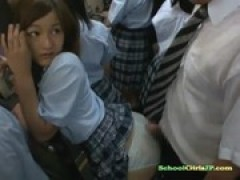 Schoolgirl slammed From behind While Stand .