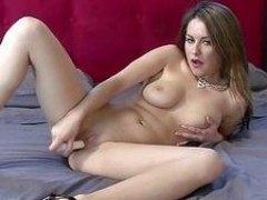 Horny college girl Candy fucks her toy
