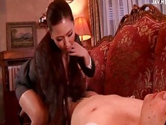Office secretary blows her boss