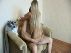 yellow-haired russian young banged by her boyfriend