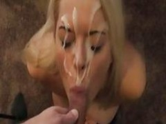 Blond woman Gets Facial And Then Fuck