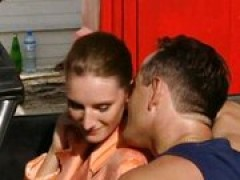 Anastasia-French fiance pounded by two Workers
