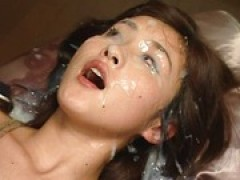Extreme Bukkake Eye jizz - Japanese