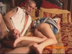 Daddy uses little young as slut HOLE