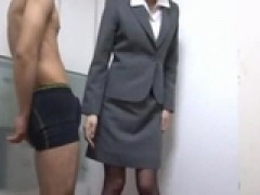 Office lady Rubbing guy meat With Her butt And cunt sperm To Costume In The Office by sotegune
