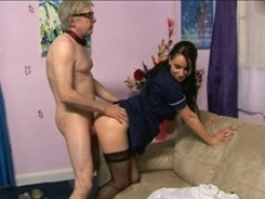 CFNM babe domination demands bonking from old man