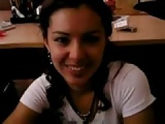ravishing russian gitrl. bj in the office. Oral creampie