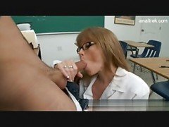 Perfect body yellow-haired teacher
