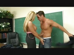 sexy teacher gets hot