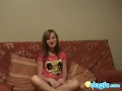 Russian teen learns how to give a oral sex