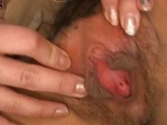 Hairy babe is pounded well