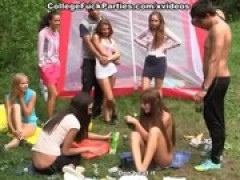 group sex in the woods with a young student