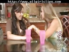 Lesbian lover play on bed