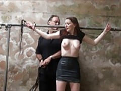 redhead breasts tortured