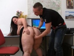 Plumper and client have making love in office