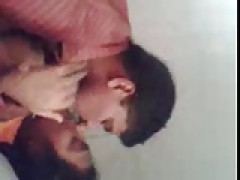 Southindian Mallu Girl's big boobs blowing by her man at home