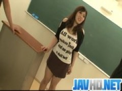 Plump and busty student plowed by 2 hun .