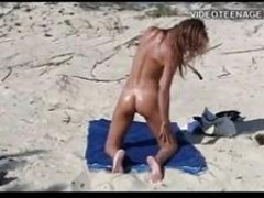 Nudist young At Beach