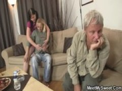 He finds his girlfriend fucking with his parents