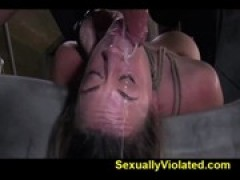 Brutally deep throated severe bondage two