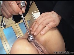 kinky Latinas anus screwed With Metalic Toys