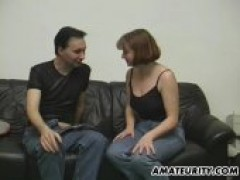 Amateur lovers Doing It For A Casting