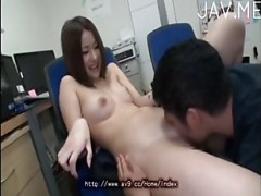 jap sexy girl office fun