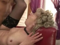 mature blondie appreciates humongous sex