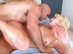 Hot young gets her twat licked poked and spunked