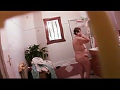 Hidden cam - Grannie 82 yo. caught in bathroom