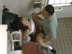 asian schoolgirl rides teacher