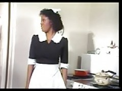 ebony Maid Jeannie Gets Vintage dong