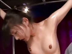 Spread Eagle Bondage and orgasm For Japanese lady