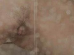 Reaching orgasm in the adorable shower