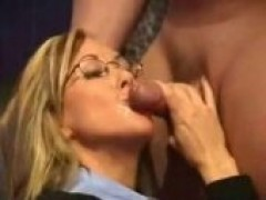 girl In Glasses Getting Facialized