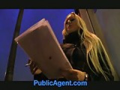 PublicAgent blonde with huge boobies win iPad