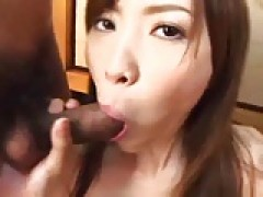 Japanese chick in a Threesome