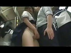 japanese bus school lady
