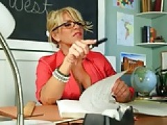 Lucky lover fucks hot teacher broad