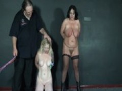 2 amateur slavegirls pain and tears in  .