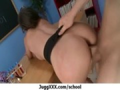 large boobies Teacher fucked At School 17